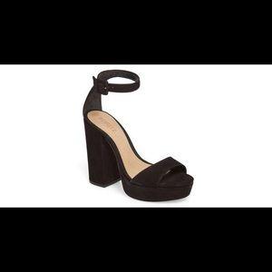 Schutz Mikella Block Heel Platform Black